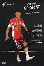 Stéphane ROSSETTO - Frankreich, Radsport, Team Cofidis 2018, Original-Autogramm!