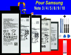 BATTERIE Samsung Galaxy Note 3 / 4 / 5 / 8 / 9 / 10 100% Neuve+ kit outils