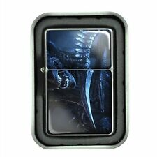 Windproof Oil Lighter with Gift Box Alien Design 03 Paranormal Martian