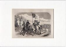 Antique matted print :Duchy of Brabant / 1882 / houtgravure / Hertogdom