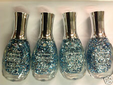 4 X Sally Hansen Diamond Strength Jewel Overcoat Nail Polish  #505 Let's Dance!
