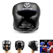 Black New Good Headgear Head Guard Trainning Helmet Kick Boxing Pretection Gear