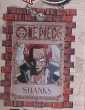 One Piece Shanks Wanted Poster Key Chain Anime NEW