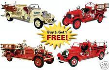 FOUR FIRE TRUCK SET MOTORMINT Maxim Mack  3 code