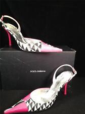 VIntange DOLCE GABBANA Womens Pink Patent High Heel Slingback Pointed sz 9 39.5