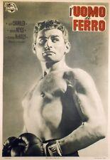 """""""IRON MAN (L'UOMO DI FERRO)"""" Affiche entoilée 1951 Joseph PEVNEY / Jeff CHANDLER"""