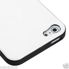 APPLE iPHONE 5 CANDY GEL TPU SKIN CASE COVER PHONE ACCESSORY IVORY WHITE