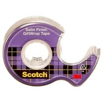 """EXTRA LONG 3M Scotch  Satin Gift Wrap Tape 3/4""""W x1100""""L 19mm x 28m Invisible"""