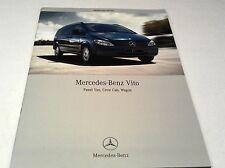 2007 MERCEDES BENZ VITO  Van Orig Sales Brochure