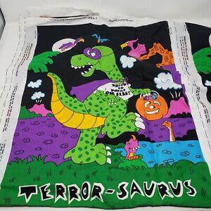 Terror-Saurus Fabric Panel Glow in the Dark Vintage Dinosaur Trick or Treat Bag