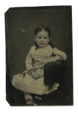 19th Century Child Portrait - Original 19th Century Tintype of a Young Girl