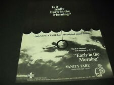 Vanity Fare 1969 Rare Promo Poster Ad Is it really Early In The Morning? mint