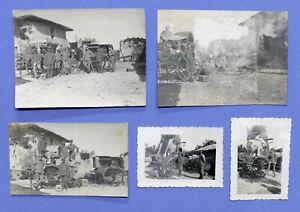 WWI - Lotto 5 fotografie Stazione Fotoelettrica 42 C - 1916