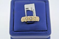 Fancy 14k Yellow Gold 0.75 CT Diamond Ladies Wedding Band, 3gm, S100958
