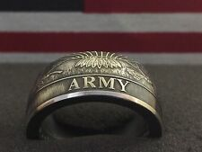24K Pure Silver Coin Ring | US Army | Sizes 5-15
