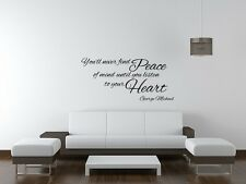 George Michael wall art sticker music song lyrics home decor lounge Bedroom diy
