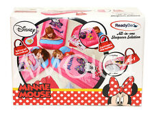 Disney Minnie Mouse Ready Bed Girls Kids Sleeping Bag - Air Mattress New
