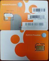 NEW  AT&T FACTORY PREPAID GO PHONE 3G/4G MICRO SIM CARD