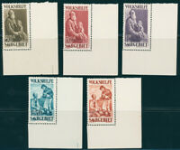 SAARGEBIET, MiNr. 128-133, Bogenecken tadellos postfrisch, gepr. Ney, Mi. 230,-
