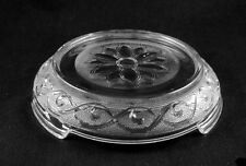 "Hocking Crystal ""SANDWICH"" Punch Bowl Stand-"