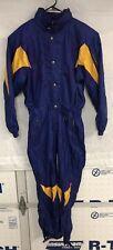 DESCENTE Ski Suit One Piece Shell Jumpsuit Jacket Coat Pants MEDIUM Vintage