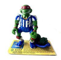 Shell Kickin Raph Vintage TMNT Ninja Turtles Figure Complete w/ File Card 1991
