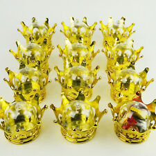 Baby Shower Favors Fillable Crown Gold King Queen Princess Party Supply Boy Girl