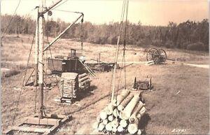 Blaney Park Michigan RPPC Paul Bunyan Logging Lumber Camp 1940s