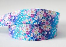 1M X 22mm Grosgrain Ribbon Craft DIY Cake Decorations Hair Bows - Amazing Flower