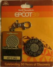 DISNEY WDW EPCOT 30TH ANNIVERSARY METAL & PIN SET SPACESHIP EARTH SEAS JOURNEY