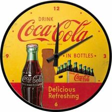 Bilderpalette-coca-cola in Bottles Jaune-horloge murale 31 cm