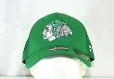Chicago Blackhawks NHL  St Patrick's Day Green Baseball Cap Stretch Fit L/XL