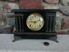 Antique Sessions Mantel Clock No Key for Parts Restoration Repurpose
