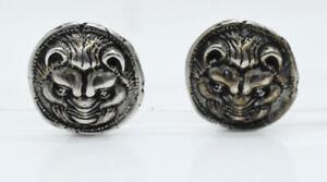 1992 Metropolitan Museum Of Art MMA/KHM Tiger Beast Sterling Silver Earrings