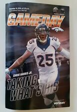 Denver Broncos vs Patriots Gameday Program 2016 souvenir ticket Chris Harris Jr
