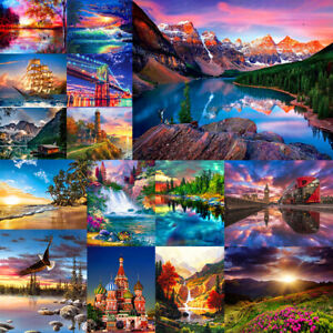 DIY Paint By Number Kit Digital Oil Painting Art Sunset Glow Scenery Home Decor