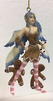 Snow Fairy W Ginger Bread Man Amy Brown Faery Figurine Ornament Collection