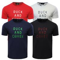 Mens T Shirt Duck & Cover Simpson Crew Neck Short Sleeve Graphic Tee