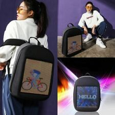 LED Smart Backpack Creative Advertising Display Screen Dynamic WIFI Laptop Bag.