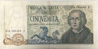 ITALIE - 5000 LIRE (1971) - Billet de banque (TB)