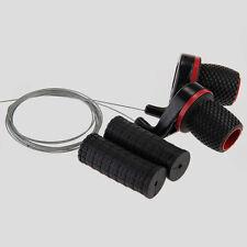 2 Manopola Grip Cambio Nero Controllo Velocità per Bicicletta MTB
