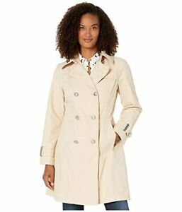 Vince Camuto Double Breast Trench Coat V19720 (Sandcastle)