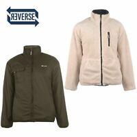 Gio Goi Reversible Fleece Jacket Mens Gents Lined Coat Top Full Length Sleeve