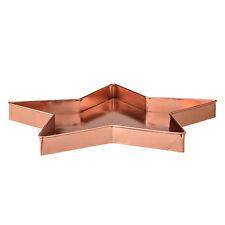 Bloomingville Tablett Stern Metall kupferfarbig ca. 33 cm