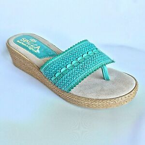 SBICCA Women's Newland Thong Sandal, Size 9, Turquoise