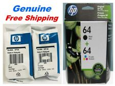 Genuine HP 64 black/color Ink Cartridge Combo for HP6255 7155 7855 7864 printers