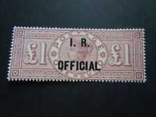 Gran Bretagna 1887 Regina PAUD Rarissimo FISCO UFFICIALE IR M.N.H** RRR