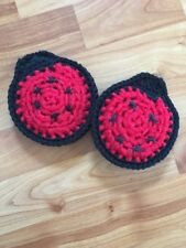 Ladybug Scrubbies - Set Of 2 - Red And Black