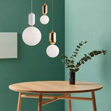 Nordic Glass Ball Pendant Light Singlehead Glass Chandelier Globe Hanging Lamp