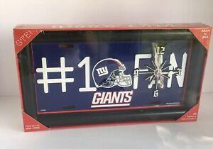 NEW York GiantsNFL Team Logo # 1 Fan Licensed Plate Clock Wall Hanging Desk